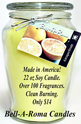 Soy Candles made in America! #candles [bellaromacandle.com]