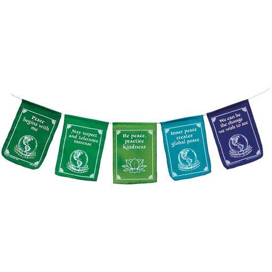 Global Peace Flags - Traditional Tibetan prayer flag strand | Montessori Services