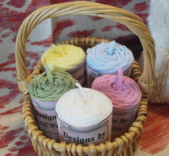 Bag of 5 Jersey Tee Shirt Trapillo Yarn by WaltzDesignz on Etsy