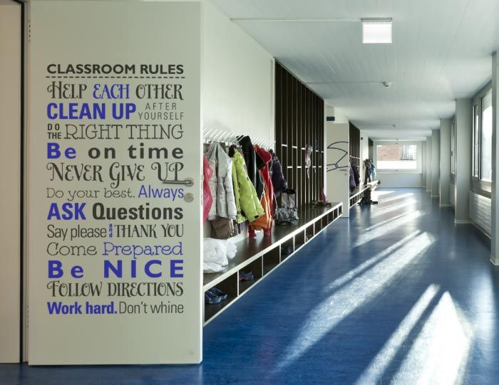 Modern Classroom Rules ~ Images about classroom decals on pinterest name