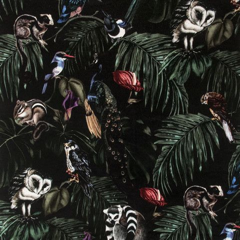 Amazonia Dark Velvet Fabric   Witch and Watchman £120 per metre