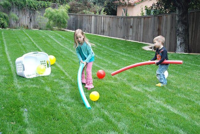 Diy Outdoor Field Hockey Balloon Games For Kids Fun Games For Kids Backyard Games