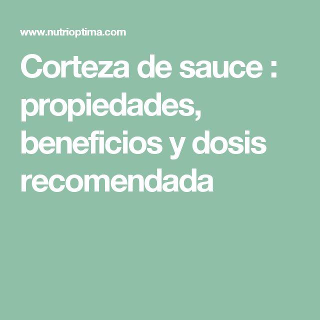 Corteza de sauce : propiedades, beneficios y dosis recomendada