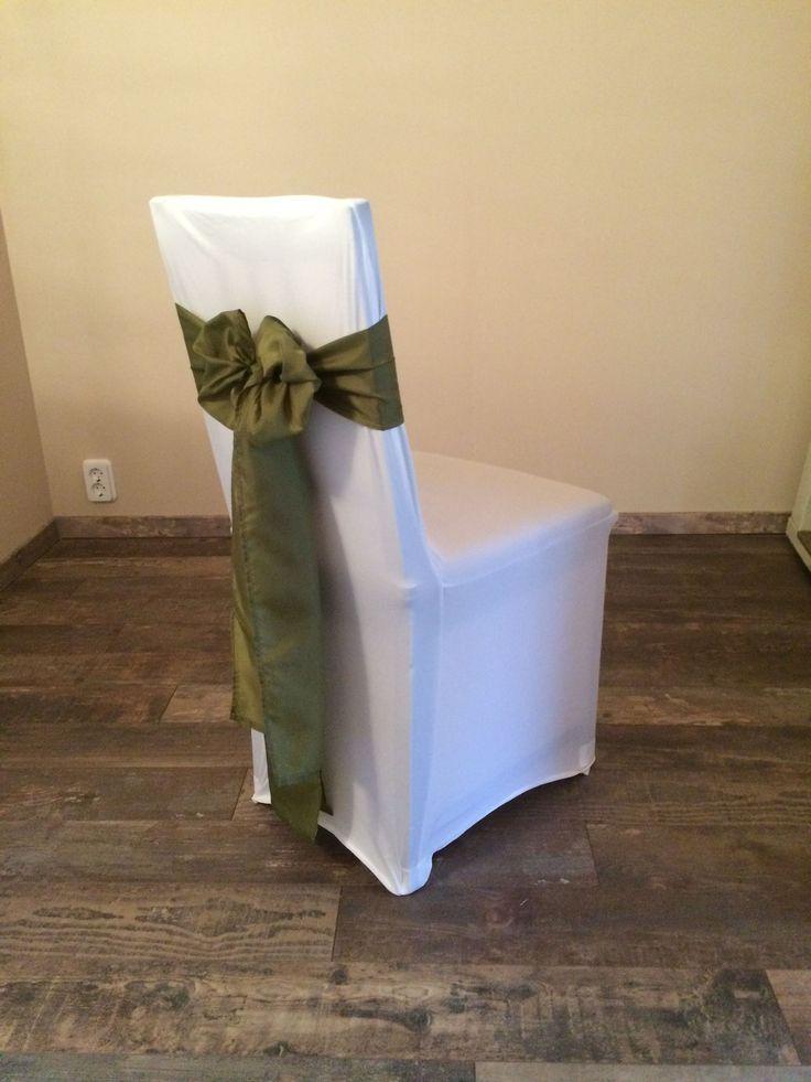 Bérelhető spandex székszoknya mohazöld színű selyem masnival Érd