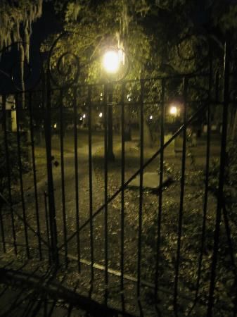 Haunted Savannah - Colonial Cemetery at night