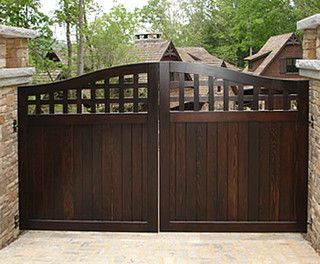 Portland Collection Wood Driveway Gate - traditional - fencing - portland - by Sederra