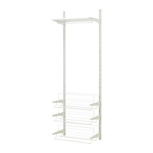 His side // ALGOT Wall upright/rod/shoe organizer - IKEA (2 of the