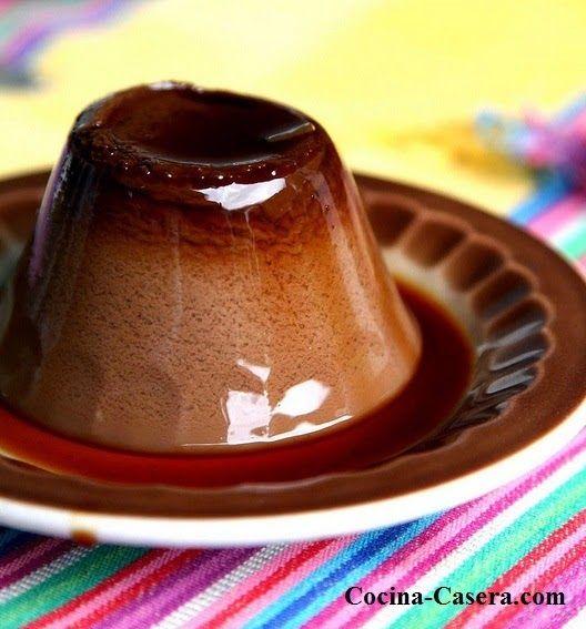 Flan de Chocolate y Café. Receta dulce   Recetas de Cocina Casera