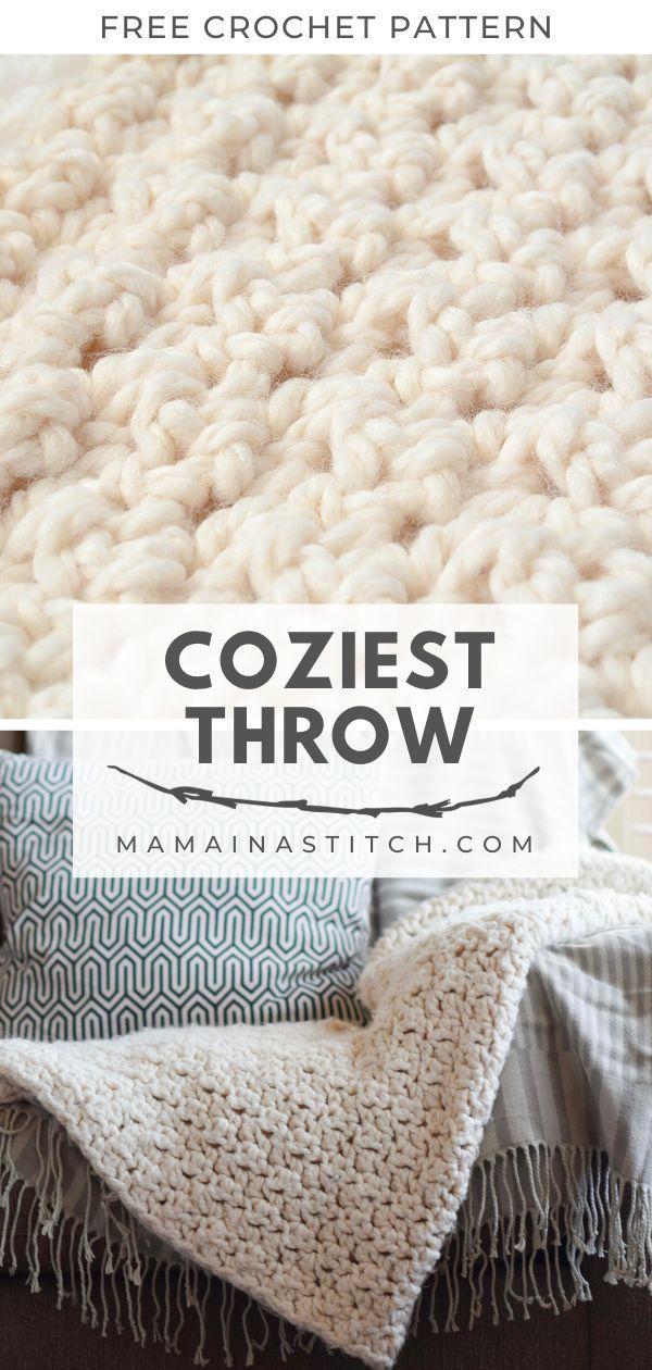 Chunky Icelandic Crochet Blanket Pattern In 2020 Bulky Yarn Crochet Crochet Patterns Free Blanket Crochet Blanket Patterns