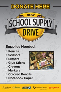 Its the official 2012 KGW School Supply Drive poster!