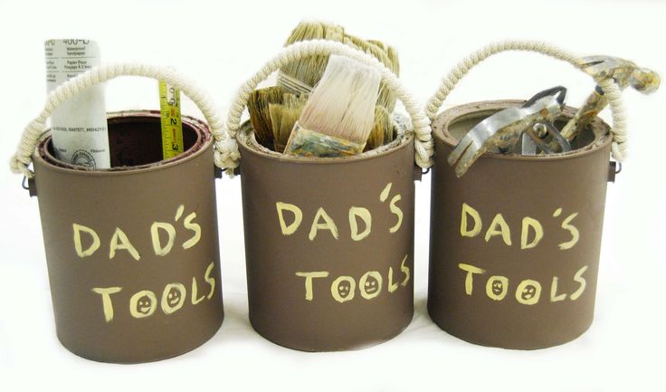 Color Buzz: Fathers Day DIY Gift: Recycled Paint Can Tool Bucket