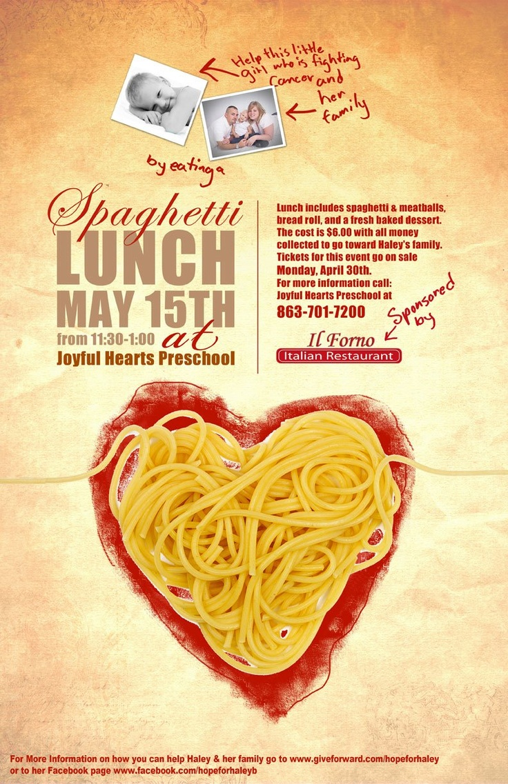 Poster design cost - Charity Poster For A Lunch To Support The Family Of A Little Girl Fighting Cancer