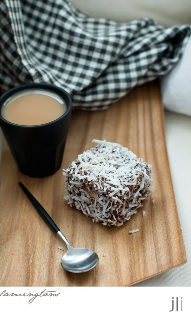 Lamingtons, the popular  Australian pastry.  I want to try making these some time!
