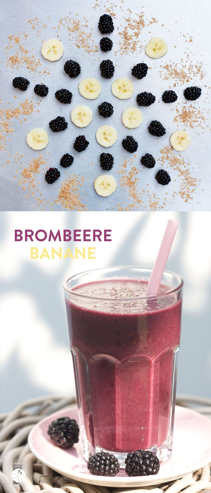 SmoothieMontag | Brombeere Banane Smoothie | Blackberry Banana Smoothie #feiertaeglich #smoothiemontag