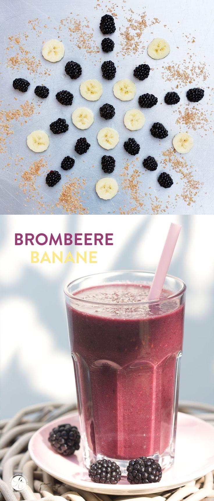 SmoothieMontag | Brombeere Banane Smoothie | Blackberry Banana Smoothie #feiertaeglich #smoothiemontag