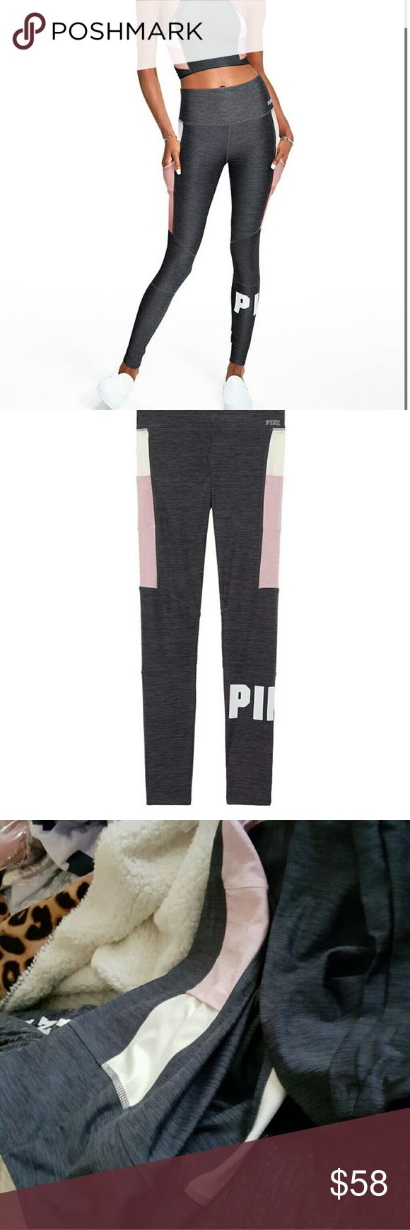VS PINK NWT M HIGH WAIST POCKET ULTIMATE LEGGING Brand new in package Victoria's Secret PINK  Sz Medium  These are the absolutely softest leggings I have ever felt, softer than even my lularo  PINK frosting, vanilla creme colors on gray marled base Black graphics  High waist  POCKETS  Tight leggings pants  Athletics running walk shopping hiking biking yoga GYM ready, or just strutting your stuff,  I love offers, but please be respectful and no lowballing THANKS #vsbombshellbaby…