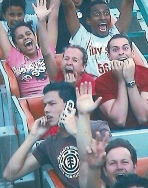 25 Hilarious Roller Coaster Photos