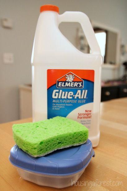 How to make a glue sponge ~ no more messy glue bottles