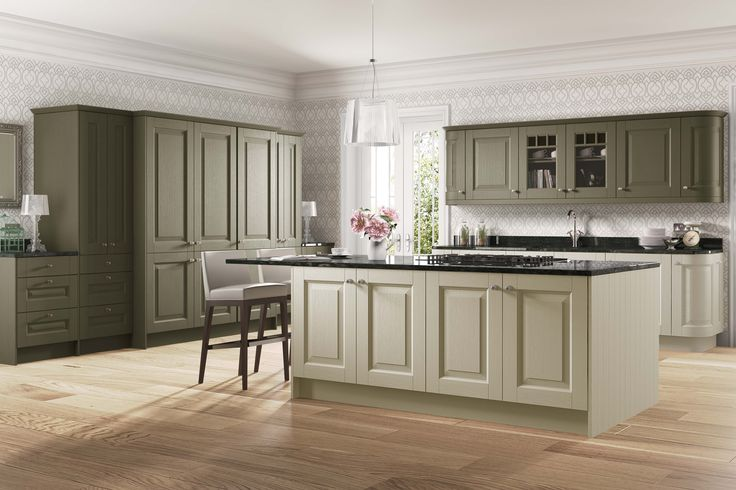 Wexford Olive & Stone http://www.academyhome.co.uk/products/kitchens/kitchen-ranges/timeless