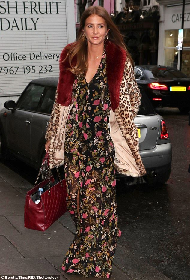 Leggy Millie Mackintosh goes for boho chic in floral gown | Daily Mail Online
