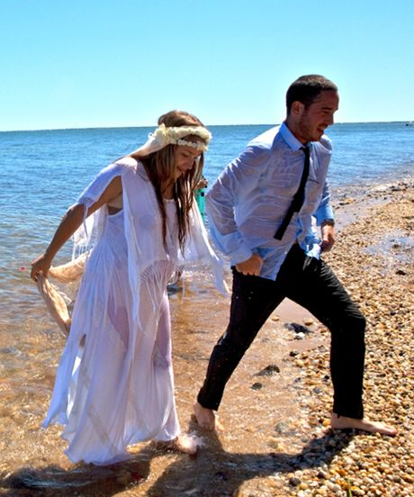 Jemima Kirke Got Married In A $200 Wedding Dress #refinery29  http://www.refinery29.com/stone-fox-bride/28