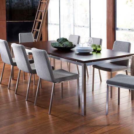 """""""Signature"""" dining chairs from Freedom in Attache Black Pepper fabric"""