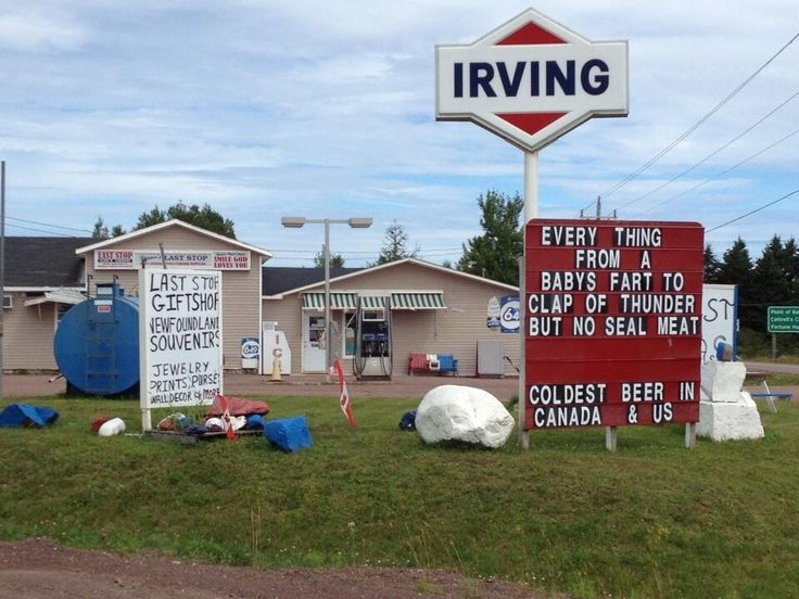 Newfoundland marketing at it's best! #Newfoundland #daRock