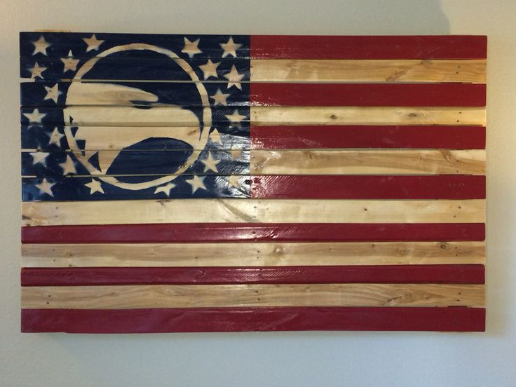Georgia Southern University Wooden American Flag - Made out of a Recycled Pallet