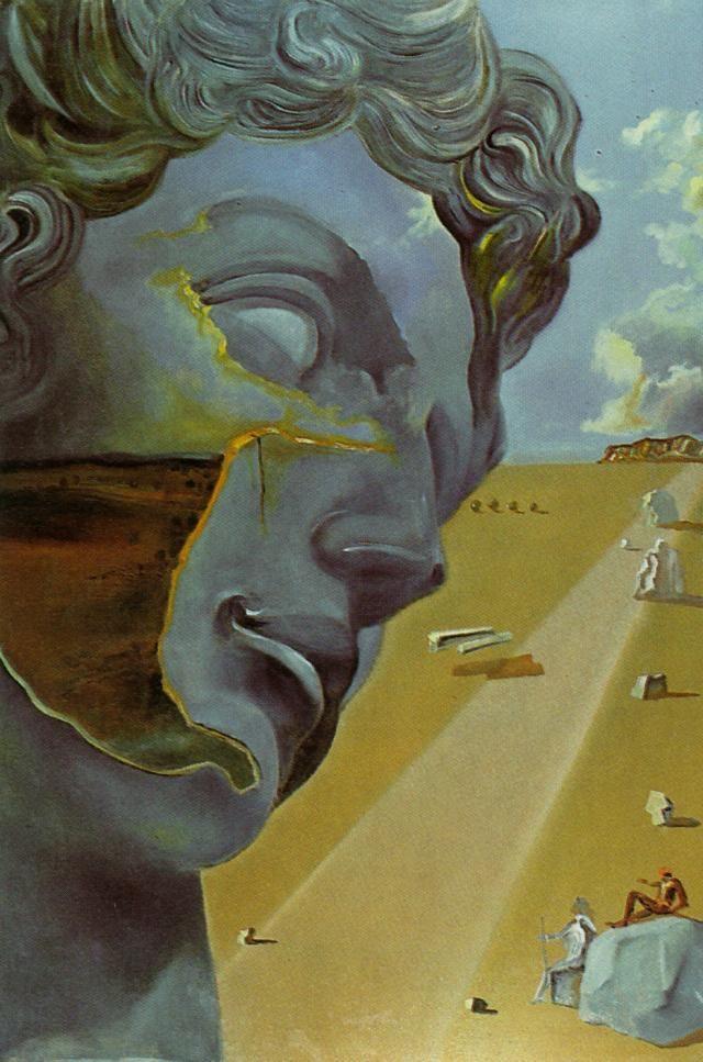 """Antes de la cabeza de """"Giuliano de Medici"""", Florencia - Salvador Dalí, 1982, óleo en lienzo"""