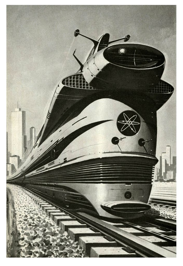 Atomic Locomotive, 1960 (by paul.malon) Unlimited energy was another common theme from this time period.