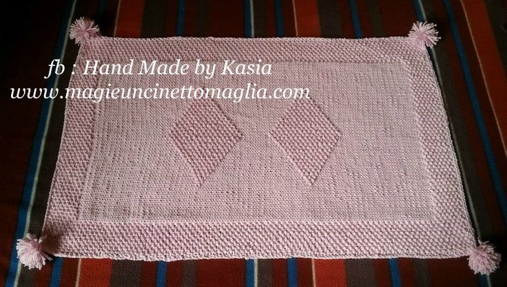 blanket for bebè; 50% cotton, 50% acrilic;  53cm x 78cm; created by Kasia Waszkiewicz