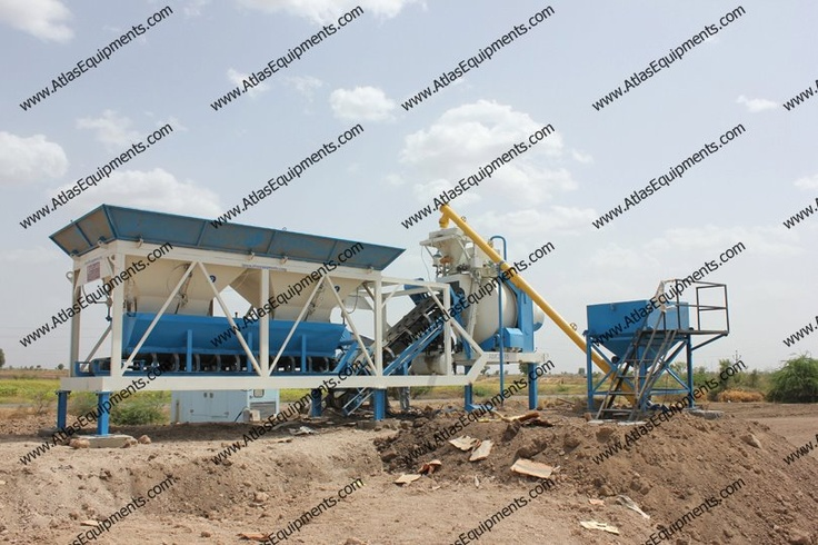 RMC plant with reversible drum mixers are available in the capacities: 10 m3/hr. to 25 m3/hr.