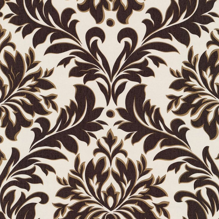 brown on brown damask wallpaper - photo #2