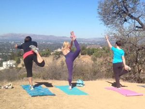 Outside of the box therapy: hiking and yoga in the Hollywood Hills...
