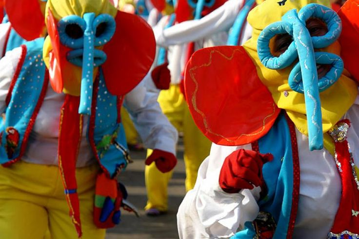 The Marimonda is a silly character of the Carnaval who was fashioned after the animal of the same name!