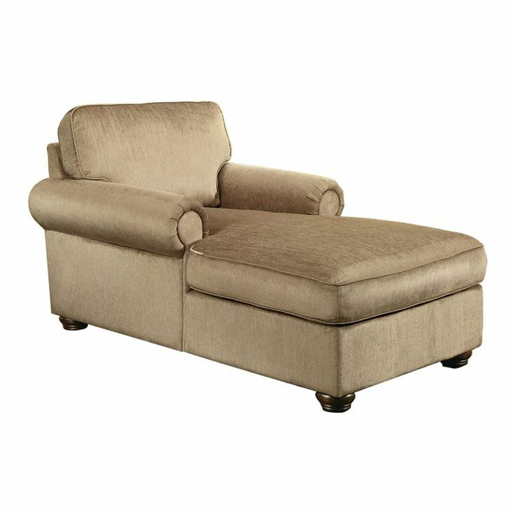 Upholstered chaise with rolled arms and foam padding. Product ChaiseConstruction Material Polyester and fiber kiln-dried engineered wood Color Platinum ...  sc 1 st  Pinterest : upholstered chaise lounge with arms - Sectionals, Sofas & Couches