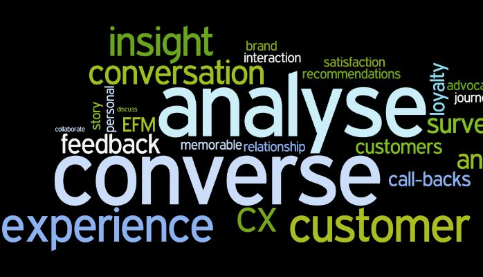 CX in 2015: Practical ideas to 'Analyse less, Converse more'.