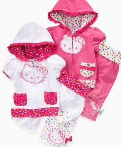Hello Kitty Kids, Little Girl Heart Trim Hoodie & Heart Trim... review at Kaboodle