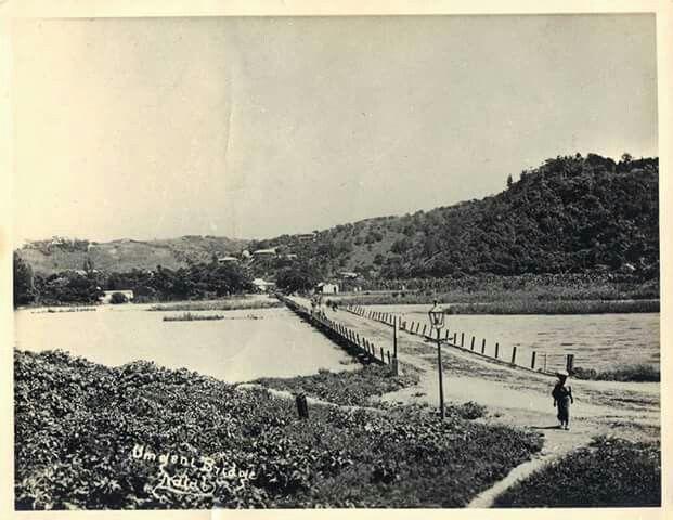 Original bridge crossing the Umgeni River, Durban