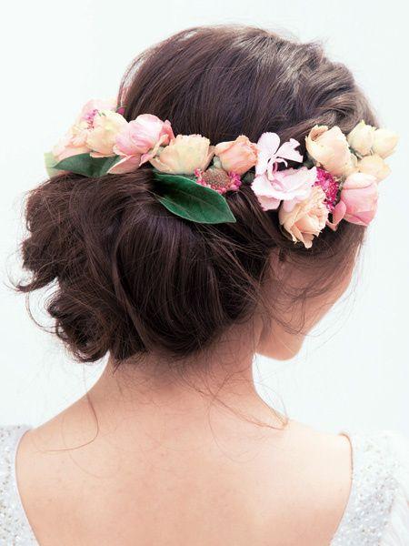 春を告げる女神を思わせる、幻想的な華やかさが魅力/Back|ヘアメイクカタログ|ザ・ウエディング