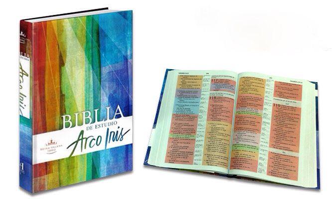 La característica principal de esta biblia es la codificación de los versículos en 12 colores, que representa diferentes temas bíblicos.  Podrás encontrar temas tales como Dios, discipulado, amor, familia, profecía, entre otros. Tamaño: 17,8x25,4cms. Versión: Reina Valera 1960.