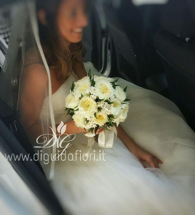 Bouquet da sposa con rose inglesi – fori per matrimonio