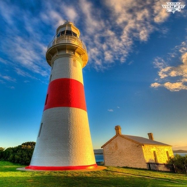 Low Head Lighthouse near George Town in Tasmania's north. Established in 1805, its Australia's oldest continually used pilot station. The distinctive tower was built from local rubble in 1833, with the crown constructed from freestone from nearby Launceston. #discovertasmania #coast #lighthouse #tasmania Image Credit: Nick Wolfe