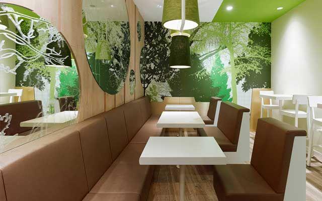 25 Best Modern Fast Food Restaurant Interior Decor Images