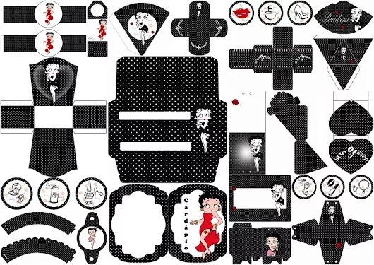 Betty Boop: Kit para Quince Años para Imprimir Gratis.