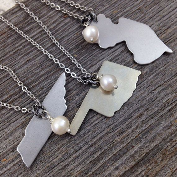 16 best my jewelry necklaces images on pinterest jewelry simple state outline necklace aluminum pendant on stainless steel chain florida tennessee oklahoma new aloadofball Images