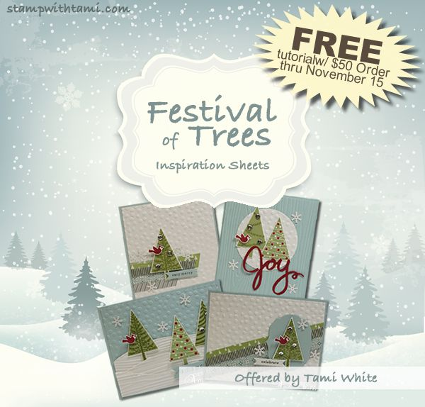 Now thru November 15 earn the Festival of Trees Inspiration sheets free Have you ever bought a stamp set just because you loved it, but then found yourself struggling for ideas and different ways t...
