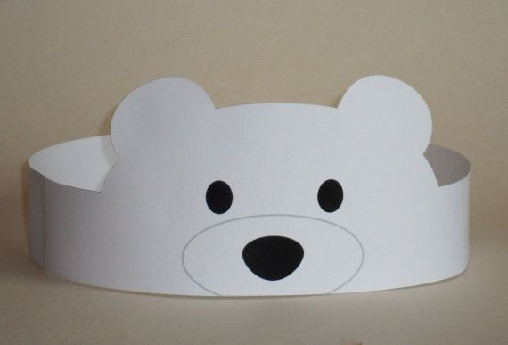 Polar Bear Crown - Printable                                                                                                                                                                                 More