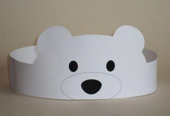 Polar Bear Crown Printable Diy Children Pinte