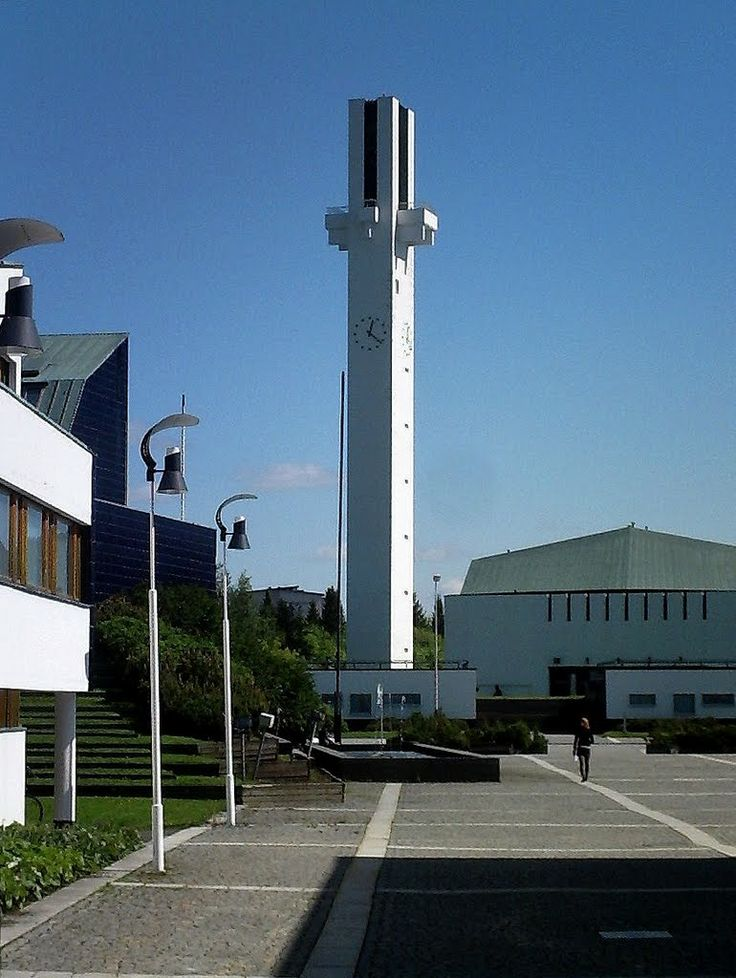 The Church bell tower, and all the architecture in this picture by Alvar Aalto. - Seinäjoki, Finland.